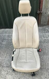 BMW 3 SERIES F30 F31 2012-2015 O/S/F LEATHER DRIVER SIDE SEAT FRONT BEIGE