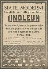 W5647 LINOLEUM il pavimento igienico - Pubblicità 1924 - Advertising