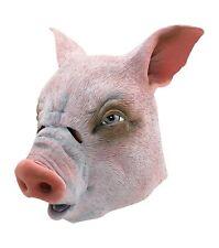 Plastic Pig Mask Farm Animal Babe Mens Fancy Dress Costume Accessory