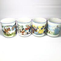 Vintage Disney Mug Set Of 4 - Pinocchio, Cinderella, Snow White, & Bambi