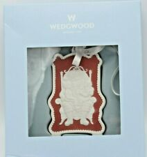 Wedgwood Red Jasperware 2010 All I Want For Christmas Ornament in Box (1Zrm)