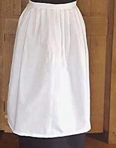 Victorian / Edwardian Tudor White Maids Apron Fancy Dress.Childs 12 in infant