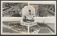 Postcard Lee on the Solent nr Fareham Hampshire aerial Beach swimming pool RP