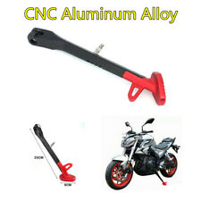 New Black/Red CNC Aluminum Motorcycle Scooter Side Stand Leg Kickstand 25CM*6CM