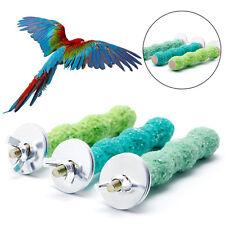 2*8cm Colorful Pet Bird Cage Stand Platform Perch Paw Grinding Parrot Parakeet