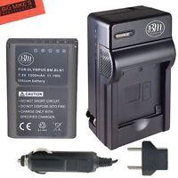 BM BLN-1 Battery & Charger for Olympus Pen F, OM-D E-M1, OM-D E-M5 II, OMD E-P5