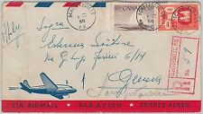 52309 - CANADA - POSTAL HISTORY - REGISTERED AIRMAIL COVER from SCHEFFERVILLE
