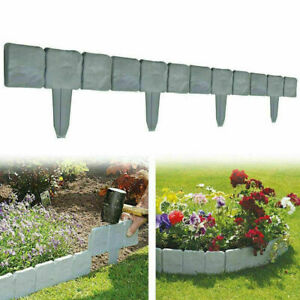 Garden Lawn Cobbled Stone Effect Plastic Edging Plant Border Simply Hammer In