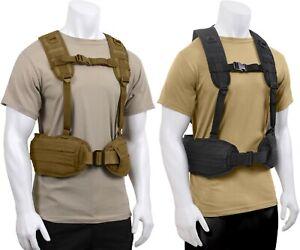 Tactical MOLLE Padded Law Enforcement Police Battle Belt & Load Bearing Harness