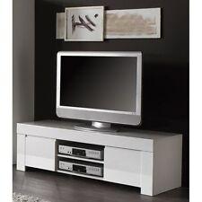 Base Mobile Porta tv AMALFI 140 bianco laccato lucido con 2 ante