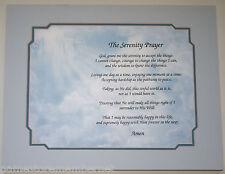 THE SERENITY PRAYER verse on Hands Art Background GREAT Gift Idea