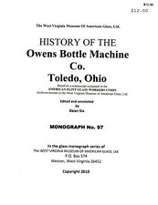 History of the Owens Bottle Machine Co., 1895-1939
