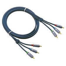 DAP Video Cable 3fach Chinch RCA 300cm RGB Componenten Male auf Male FV043 FV