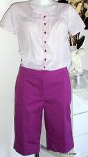 Esprit Hose Pants kurz Shorts Baumwoll Bermudas London lila 38 M