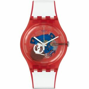 Swatch Clownfish Red Quartz Movement Red Dial Unisex Watches SUOR102