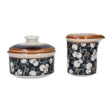 An Arabia Taika milk jug & sugar bowl 1970's Finnish design