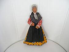 Ältere Masse/Keramik-Puppe-Frau-Markt-Kaufladen-Küche-Puppenstube
