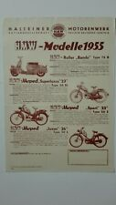 Prospectus Catalogue Brochure Cyclomoteurs HMW 1955