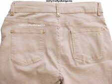 New Women Marks & Spencer Per Una Beige Slim Bootleg Jeans Size 12 Medium DEFECT