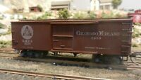 Roundhouse MDC Vintage HO Old Time 36' Boxcar Colorado Midland Upgraded, Exc