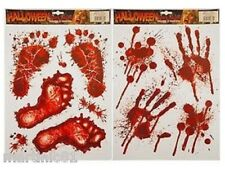 HALLOWEEN WINDOW STICKERS DECORATION SCARY BLOOD HAND PARTY BLOODY RED DECALS IT
