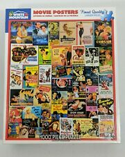 "Preowned White Mountain 1000 Piece Puzzle ""Movie Posters"" By Lewis T. Johnson"