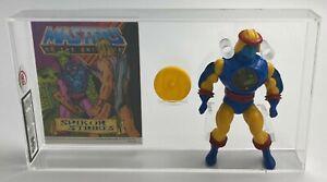 MOTU He-Man Vintage Loose Sy-Klone with Comic Series 4 No COO 1985 AFA UKG 80%