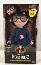 Disney Pixar Incredibles 2 Interactive Edna Fashion Doll with Voice Recognition