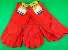 """6 Left Handed Welding Gloves """"RED LEFTIES"""" Top Quality Left hand Welders Gloves"""