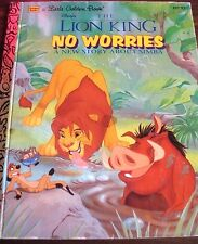 A Little Golden Book Disney's The Lion King No Worries (A New Story about Simba