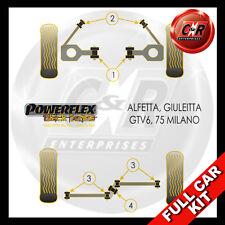 Alfa Romeo 75 (Milano) Powerflex Black Complete Bush Kit
