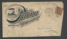 DATED 1902 COVER INDIANAPOLIS IN 4c BROWN LINCOLN ON HORSE DRAWN SEE INFO
