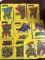 1989 Topps Teenage Muntant Ninja Turtles Collectible Stickers U Pick 3 Cards