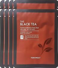 Tonymoly The Black Tea Nutrition & Moisture Mask Sheet   x 8 Sheets