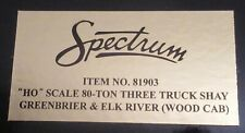 Bachmann Spectrum Item 81903 HO Three Truck Shay Greenbrier & Elk River, Caboose