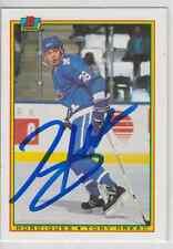 Autographed 90/91 Bowman Tony Hrkac - Nordiques