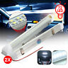 2X 72 LED Interior Light Strip Bar Car Van Bus Caravan ON/OFF Switch Universal