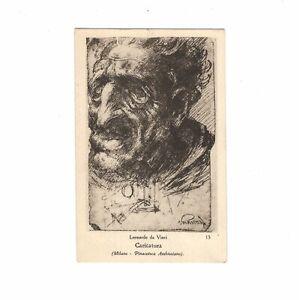 AK Ansichtskarte Kunstkarte / da Vinci / Caricatura