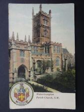 West Midlands WOLVERHAMPTON Parish Church S.W. Old Postcard
