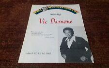 Vic Damone concert program 1982 Hackensack New Jersey