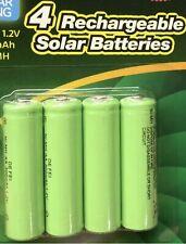 BRANDNEU 4 AA wiederaufladbare Solar Power Batterien 1.2v 300 mAh Ni-MH.