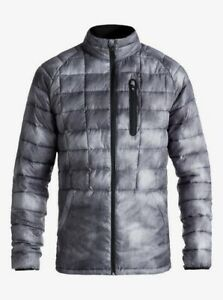 NWT QUIKSILVER Release Waterproof Puffer Jacket Coat Grey Mens Size XL $170
