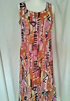Adini 100% cotton voile printed sundress button through fully lined loose fit