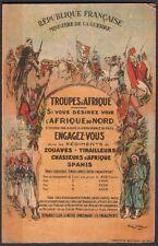 Georges Scott - Troupes d'Afrique. Engagez vous. 1927. Militaria Zouaves Spahis