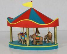 1990 Hallmark Merry Miniatures Carousel Set with 5 Animals
