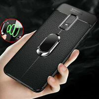 For Oneplus 3T 5 5T 6T Slim Rugged Case Silicone Cover Magnetic Car Ring Stand