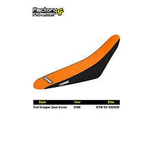 2000 KTM SX 400/520 FULL GRIPPER SEAT COVER Black/Orange by Enjoy MFG