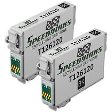 2pk For Reman Epson T126120 HY Blk Pigment Ink 520 630 633 635 840 Stylus NX430