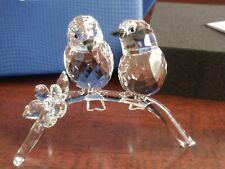 Swarovski White Eyes Crystal Figurine Flower Birds on Branch #5249843 New