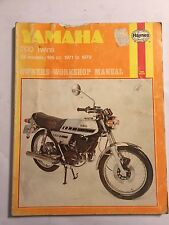 YAMAHA 200 TWINS YCS-3E YCS-5E RD200 & RD200DX HAYNES WORKSHOP MANUAL 1971-79